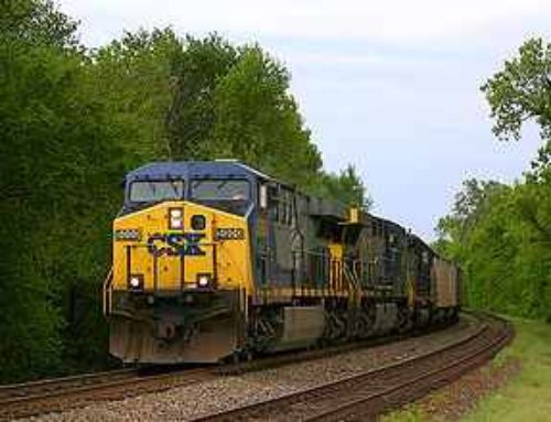 What kind of freight moves by rail?