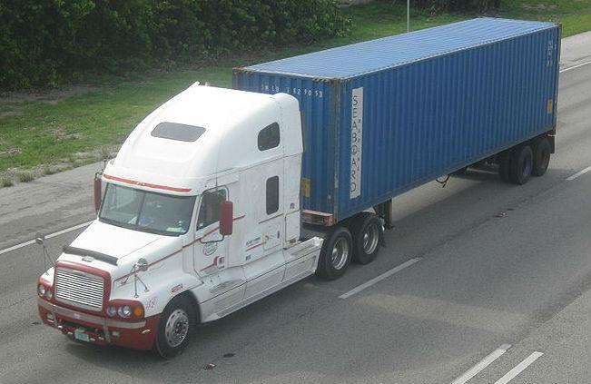Rail Intermondal Freight Transport by Truck